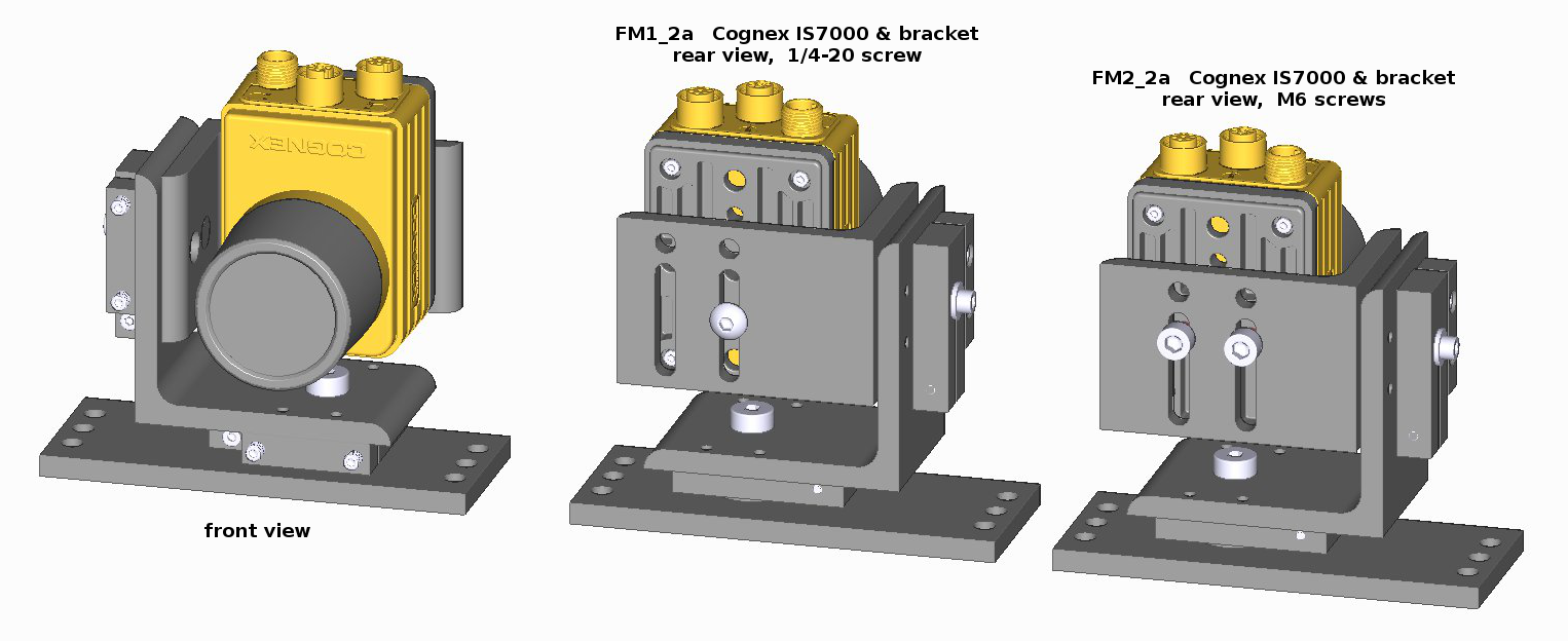 Model FM mounts with Cognex In-Sight 7200